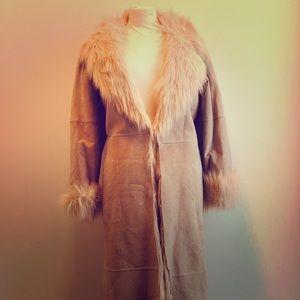 Vintage Newport News Shearling Long Coat